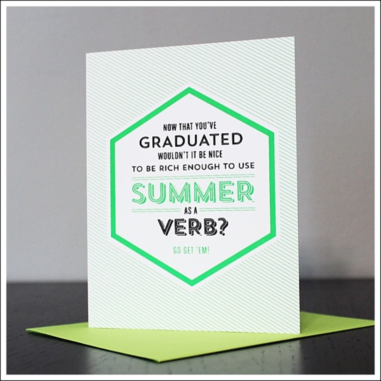 Summer is a Verb card