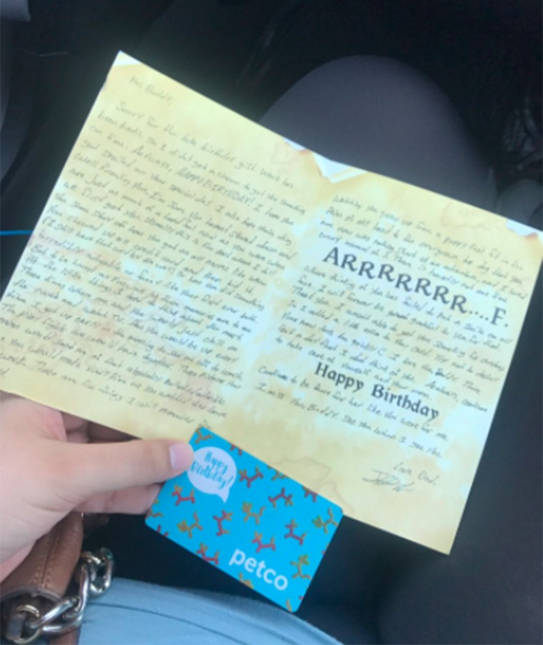 Woman's ex sends dog birthday cards