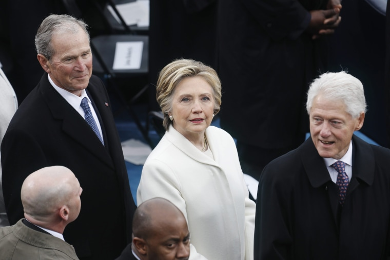 Image: Hillary Clinton attends the inauguration of Donald Trump