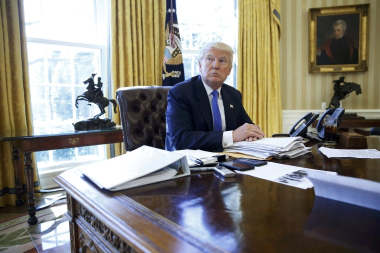 Image: President Trump is interviewed by Reuters in the Oval Office at the White House in Washington