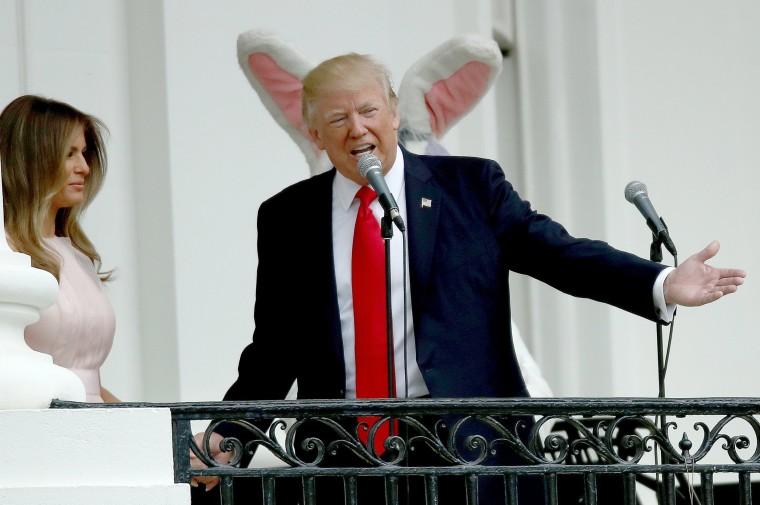 Image: President Trump And Melania Trump Host White House Easter Egg Roll