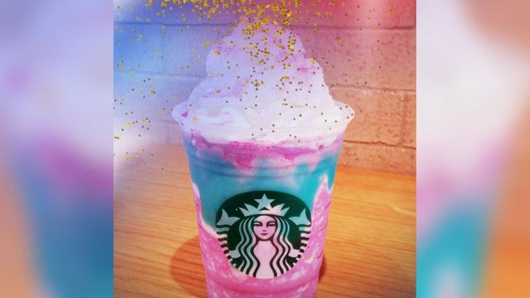 Image: Starbucks unicorn frappucino