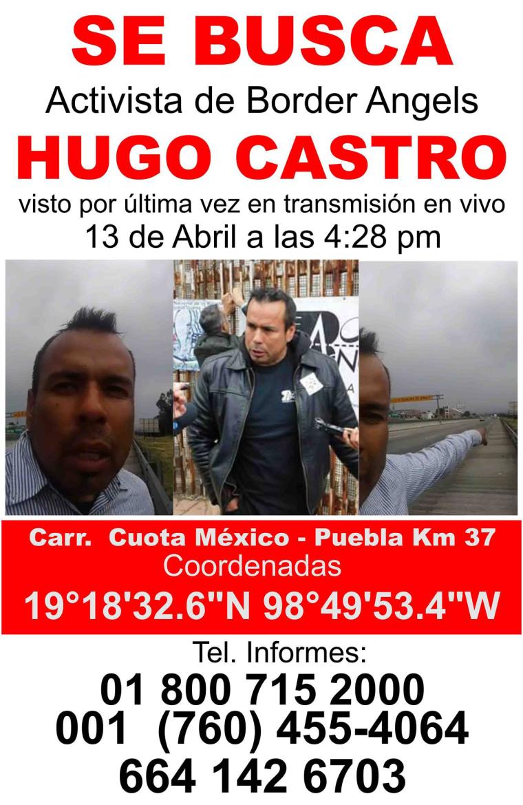 Image: Hugo Castro missing poster