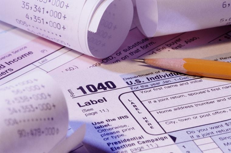 Image: 1040 tax form