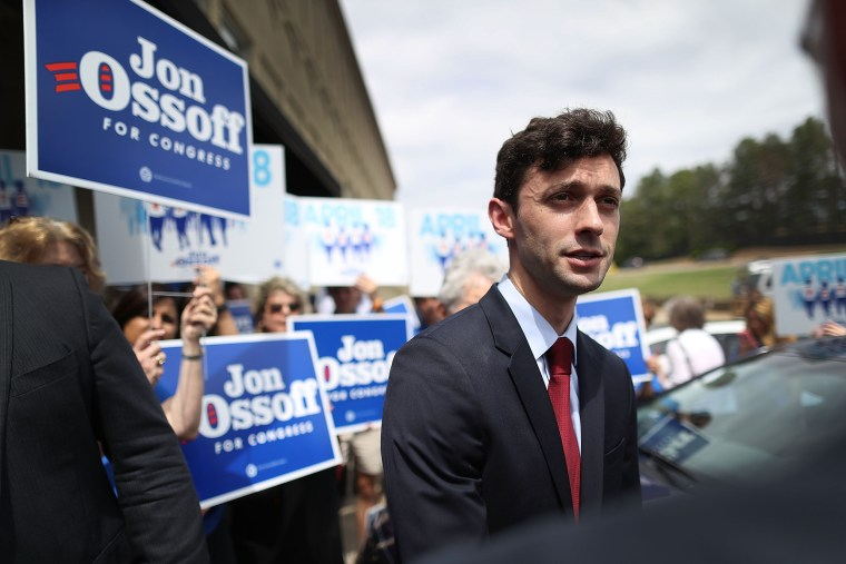 Image: Democratic Congressional Candidate For Georgia's 6th District Jon Ossoff Campaigns Ahead Of Tuesday's Special Election