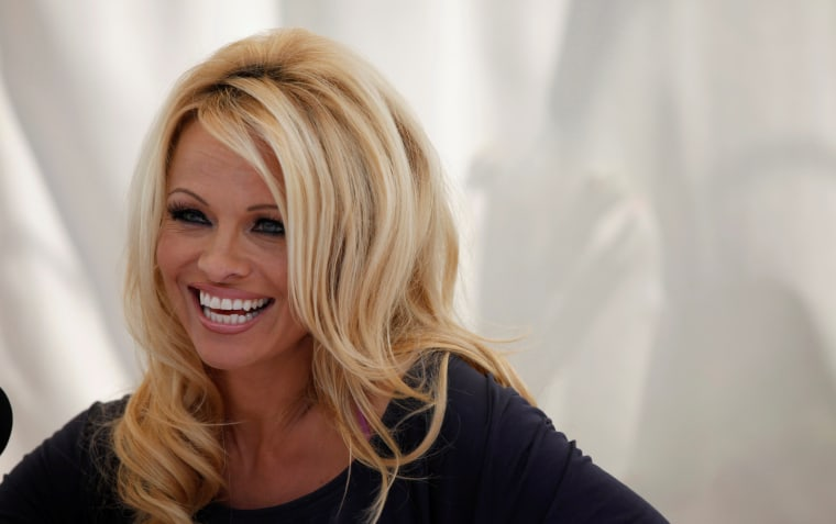 Image: Pamela Anderson in West Hollywood in 2012