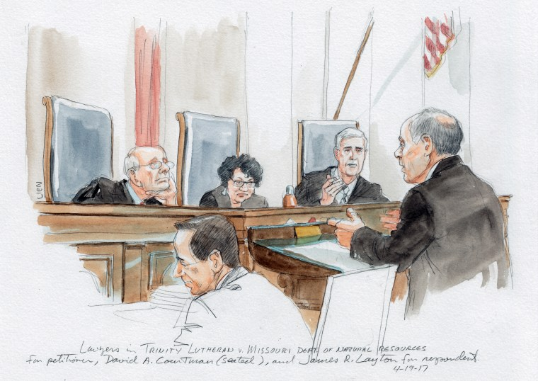 Image: Attorney David A. Cortman addresses the Supreme Court justices