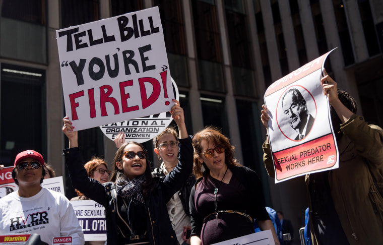 Image: Protesters demonstrate against Bill O'Reilly