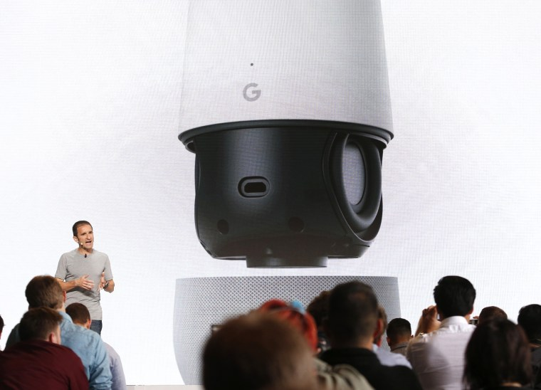 Image: Mario Queiroz speaks about the Google Home speaker array during the presentation of new Google hardware in San Francisco