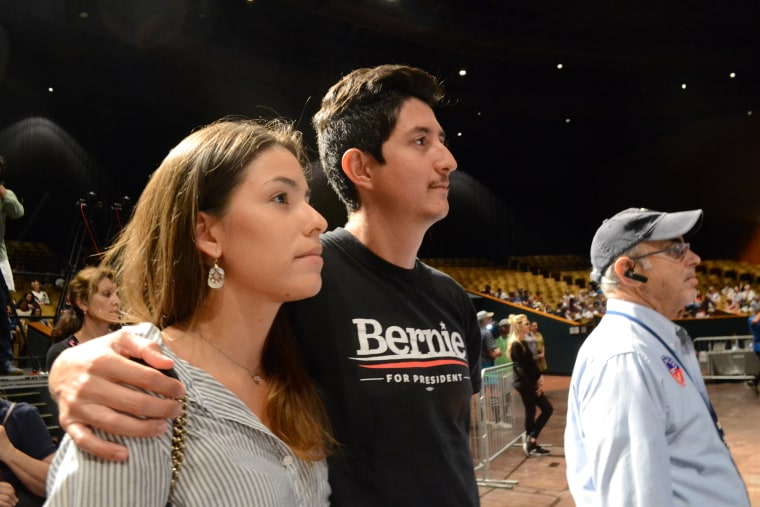 Santiago Cely and his wife, Daniela Cely, attended the Come Together and Fight Back tour in Miami on 4/19/17.