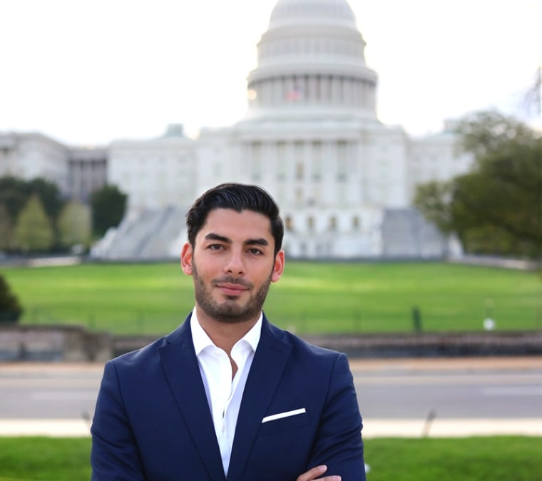 Ammar Campa-Najjar, 28, of Latino and Palestinian descent hopes he can unseat a long-term Republican representative in California's District 50.