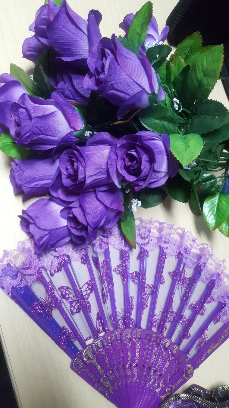 Props from Chandra Thomas Whitfield's photo shoot tribute to Prince.
