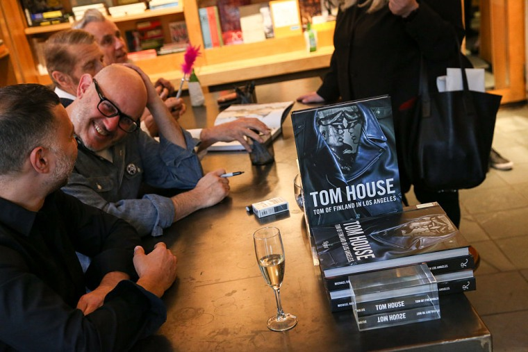 """Book signing and launch of """"Tom House: Tom of Finland in Los Angeles"""" at BookMarc on May 24, 2016 in New York City."""