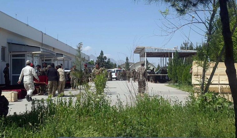 Image: Afghan soldiers killed in attack on military base