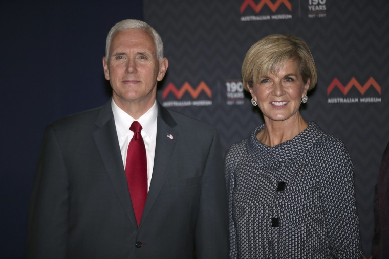 Image: Mike Pence, Julie Bishop