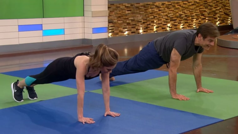 Joy Bauer workout with Dr. Oz.
