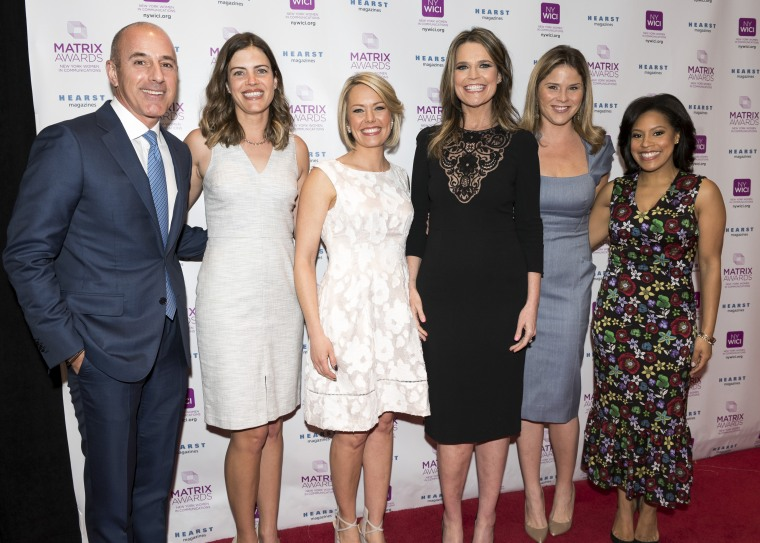 Savannah Guthrie and TODAY colleagues at the Matrix Awards