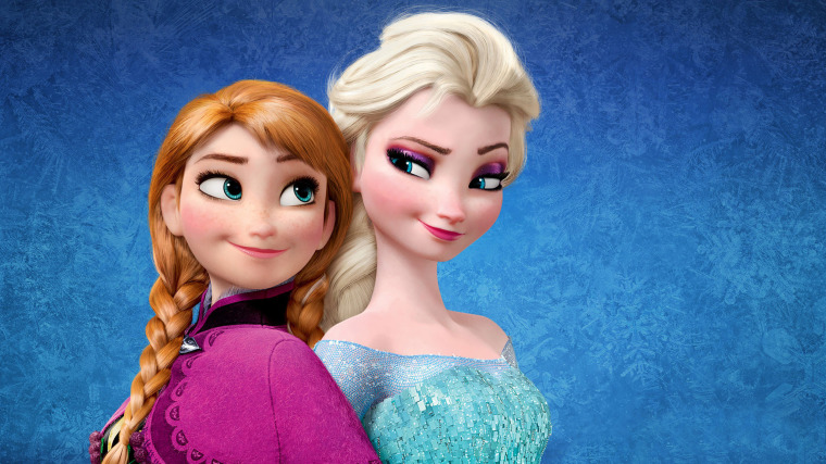 """""""Frozen"""" sisters Anna and Elsa"""