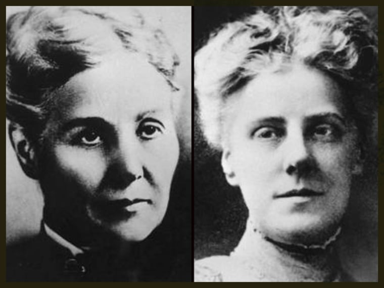 Ann Reeves Jarvis, left; and her devoted daughter, Anna Jarvis, right.