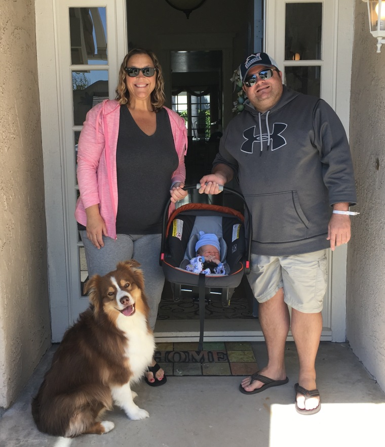Susan and Jason Zwolak with baby Easton