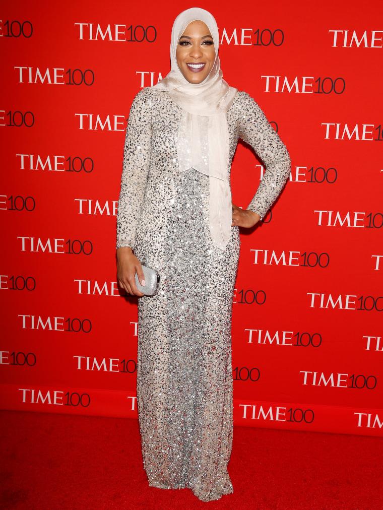 Image: Athlete Ibtihaj Muhammad arrives for the Time 100 Gala in the Manhattan borough of New York