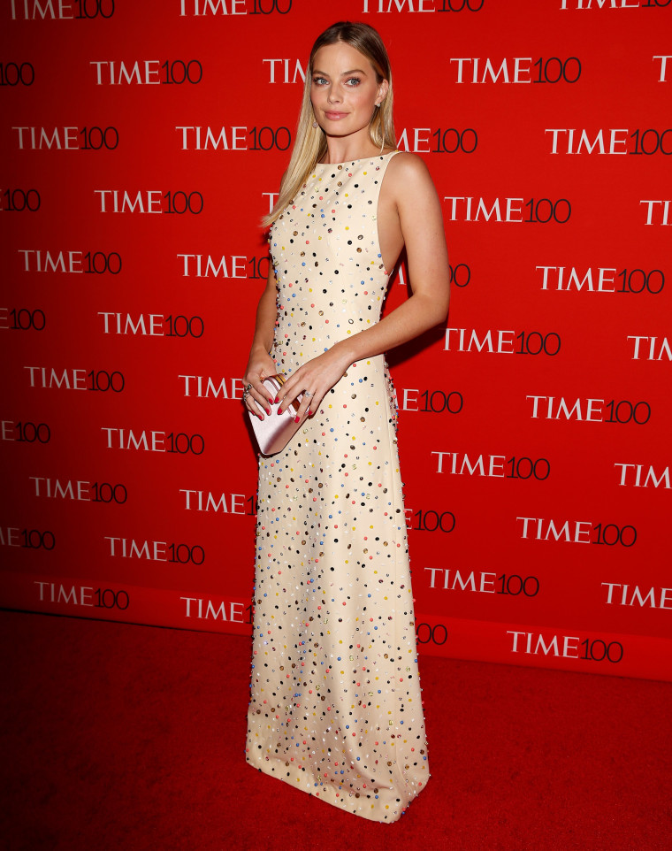 Image: Actor Margot Robbie arrives for the Time 100 Gala in the Manhattan borough of New York