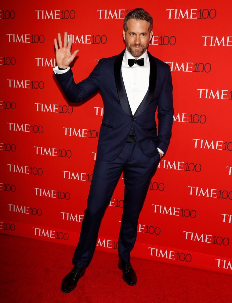 Image: Actor Ryan Reynolds arrives for the Time 100 Gala in New York