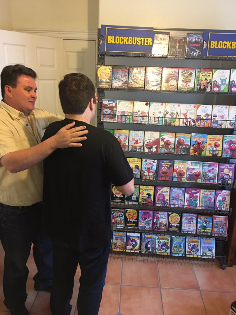 Family re-creates Blockbuster store for son with autism