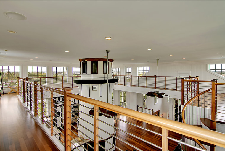 Home with a lighthouse inside of it