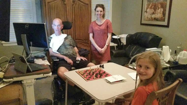As a beta tester for VisuALS, Phelps can use eye-gaze technology to communicate with his family. He feels grateful he's able to do things like play chess with his granddaughter.