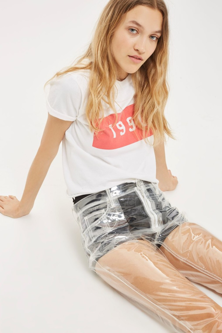 Topshop's clear jeans