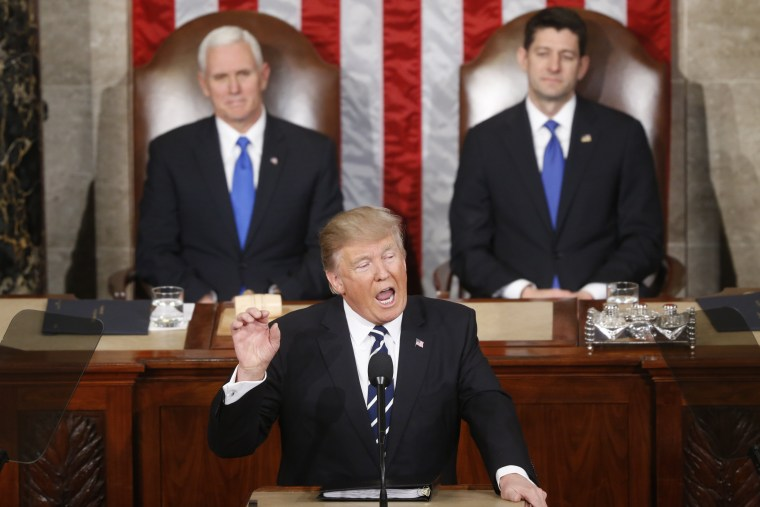 Image: President Donald Trump, Vice President Mike Pence and Speaker Paul Ryan