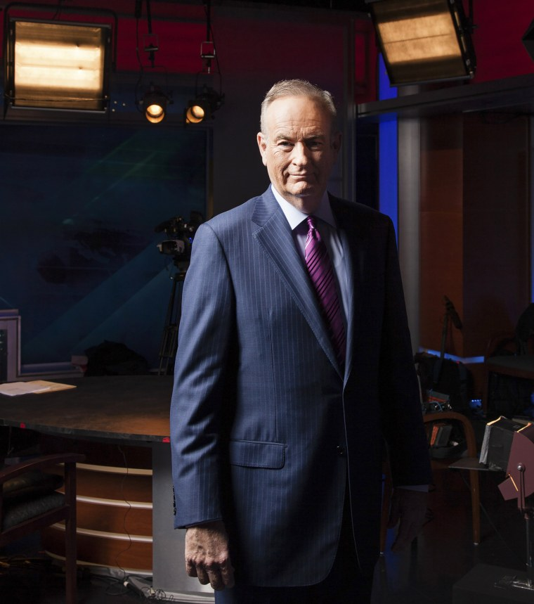 Image: Bill O'Reilly at his studio at Fox News in New York.