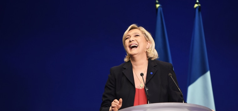 Image: Marine Le Pen at a campaign rally
