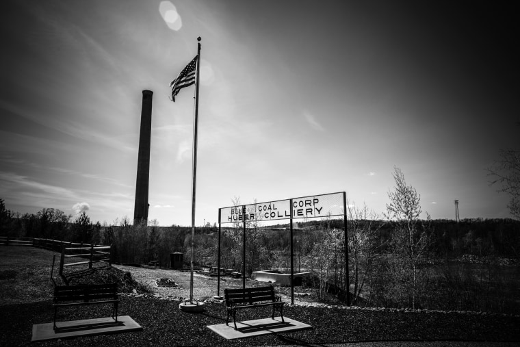 Image: The Anthracite Miners' Memorial Park in Ashley.