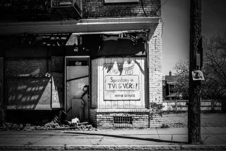 Image: An abandoned repair shop in Wilkes-Barre.