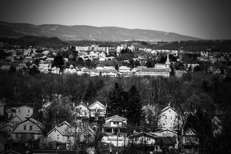 Image: Looking down on Wilkes-Barre.
