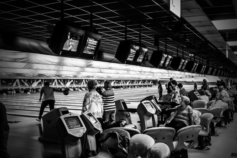 Image: Local leagues bowl at Chacko's Family Bowling Center in Wilkes-Barre.