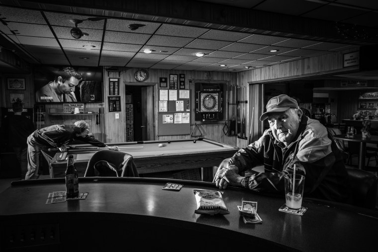 Image: Andrew Hvozdovic, 80, has a drink in the North End Slovak Citizens Club, in Wilkes-Barre.