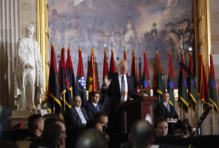 Image: Trump speaks at the Holocaust Memorial Museum