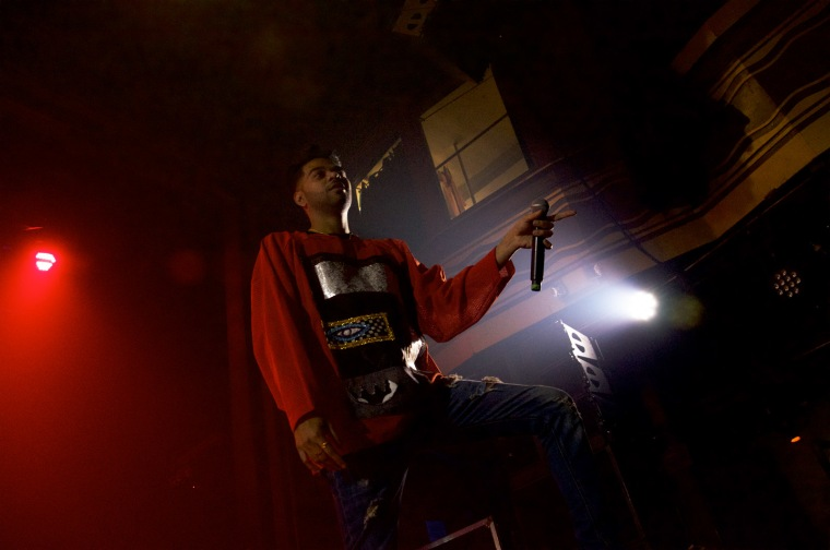 Rapper Anik Khan performs at a show in New York City's Webster Hall