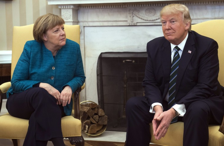 Image: TOPSHOT-US-GERMANY-TRUMP-MERKEL