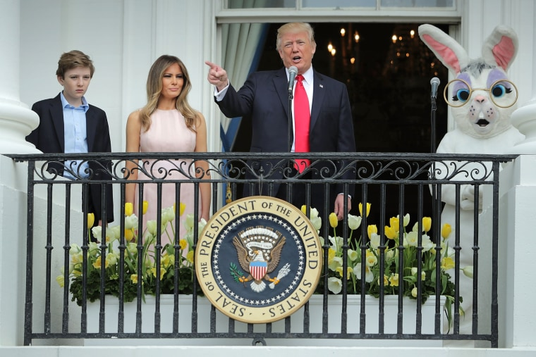 Image: *** BESTPIX *** President Trump And Melania Trump Host White House Easter Egg Roll