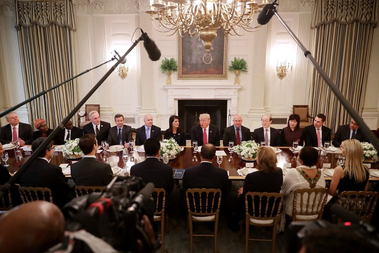 Image: President Trump Lunches With UN Security Council Ambassadors At White House