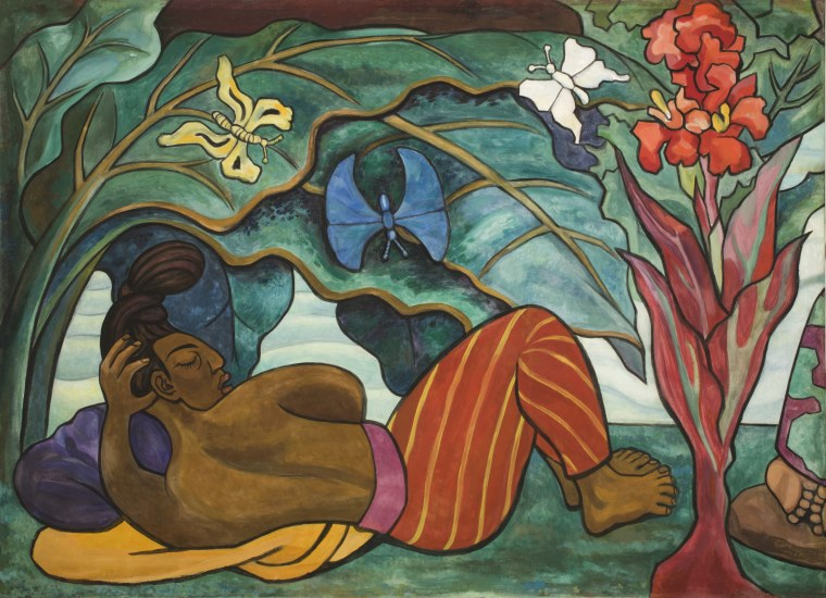 Diego Rivera: Juchitan River (Rio Juchitan) Panel 4, 1953-1955;