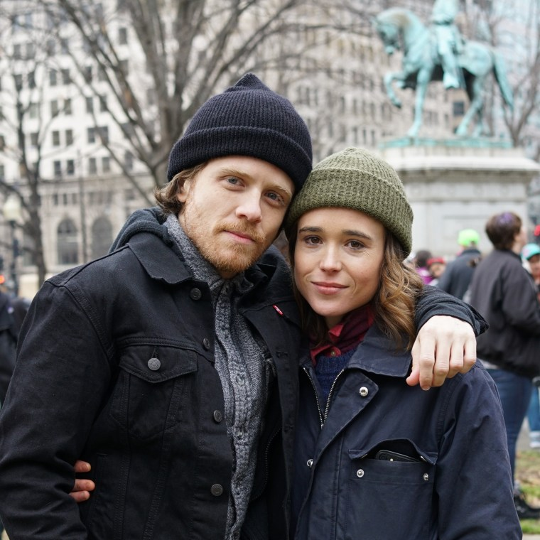 """Gaycation"" hosts Ian Daniel and Ellen Page."