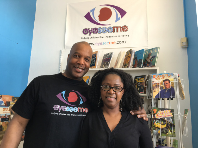 Pamela and Jeffrey Blair created EyeSeeMe, a bookstore that sells educational products promoting positive African-American images.