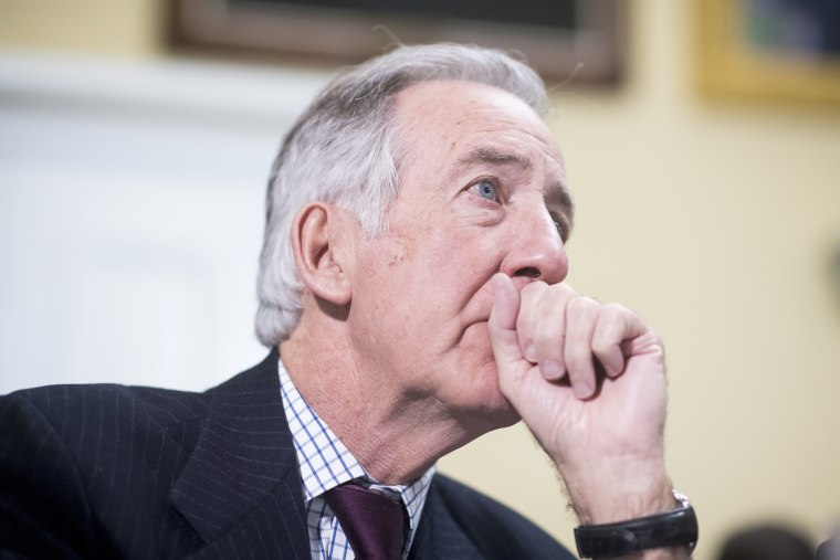 "Image: Rep. Richard Neal, D-Mass., testifies during the House Rules Committee meeting to formulate a rule on H.R.1628, the ""American Health Care Act of 2017"" on March 22, 2017."