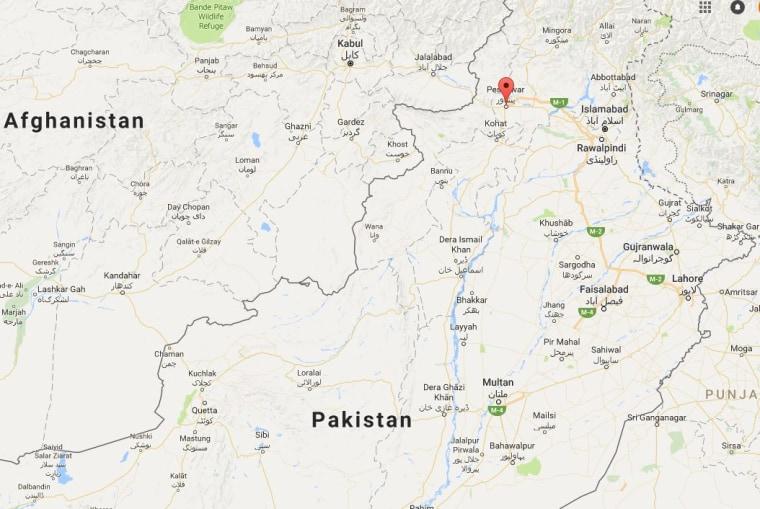 Image: The city of Peshawar in northwestern Pakistan
