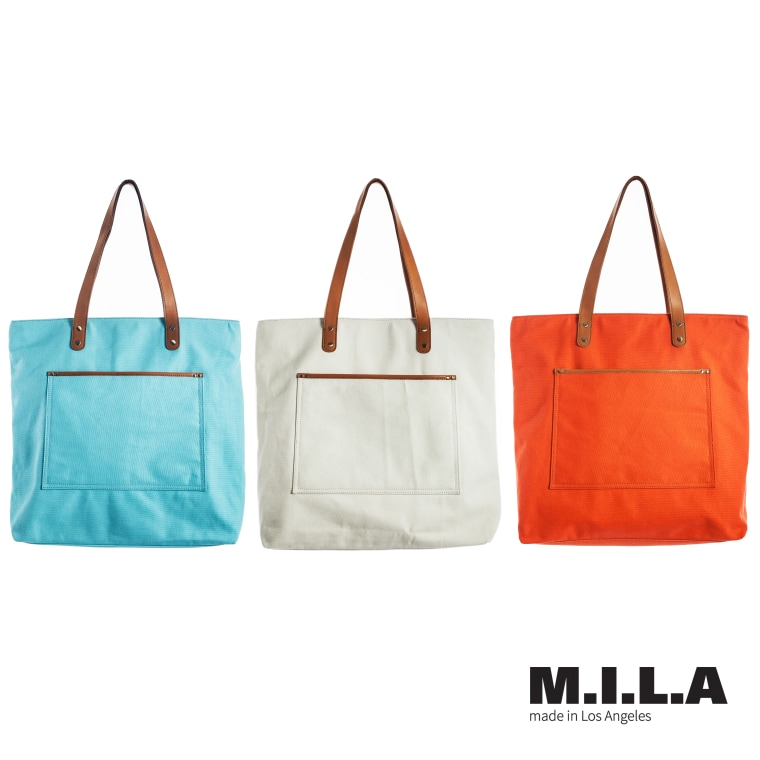 MILA Deluxe Canvas Leather Bag